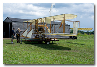 Reproduction Wright Flyer at Huffman Prairie Flying Field (Dayton Aviation Heritage National Historical Park)