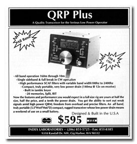QRP Plus advertisement, December 1995 QST -- click to enlarge