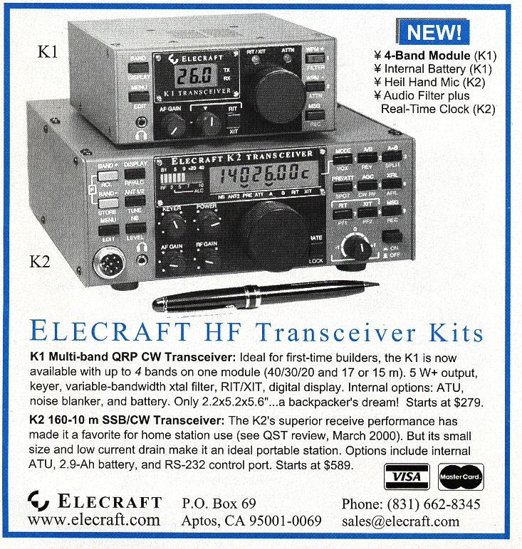 Amateur Radio Station WD8RIF   Elecraft K2