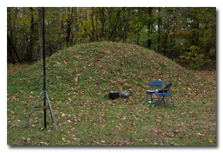 Eric's station near the small mound -- click to enlarge
