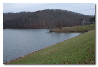 A view of the reservior and pumphouse -- click to enlarge