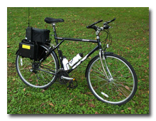 WD8RIF's loaded bicycle -- click to enlarge