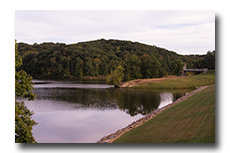 A view of Burr Oak Lake -- click to enlarge