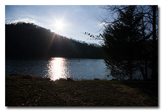 The Sun Sets Over Paintsville Lake -- click to enlarge