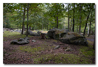 Large rocks in the picnic area -- click to enlarge