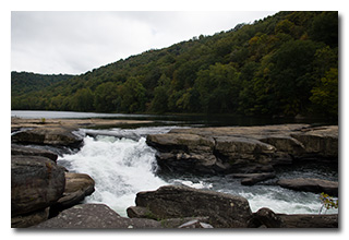 Waterfall on the Tygart River -- click to enlarge