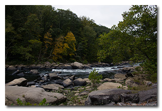 Rapids on the Tygart River -- click to enlarge