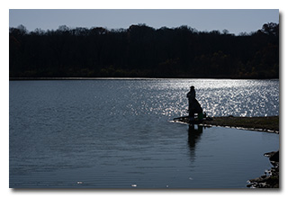 Anglers, silhouetted -- click to enlarge