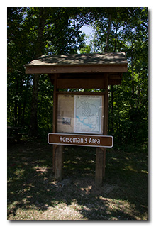 Horseman's Area sign and trail-map -- click to enlarge