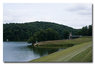 Burr Oak Lake and the Pumphouse -- click to enlarge