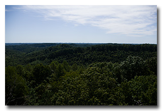 The view from atop the Copperhead Lookout Tower