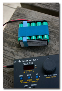 KX1 and battery -- click to enlarge